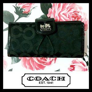 Coach Signature Medium Folding Wallet